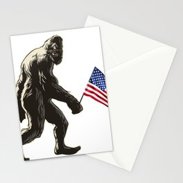 Hide and seek world champion USA Flag shirt bigfoot is real funny Tees Stationery Cards