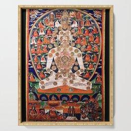Buddhist Body Mandala Chakra  Serving Tray