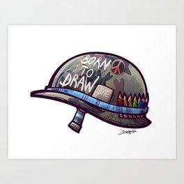Born To Draw Art Print