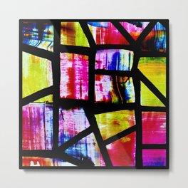 Colorful Mosaic Window Metal Print