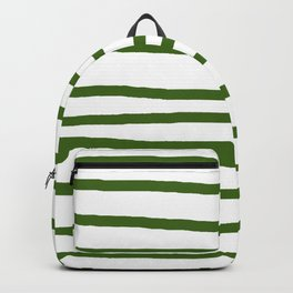 Simply Drawn Stripes in Jungle Green Backpack