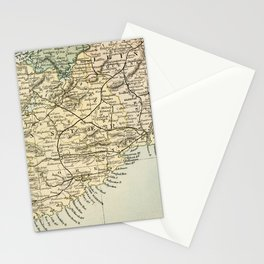 Vintage and Retro Map of Southern Ireland Stationery Cards