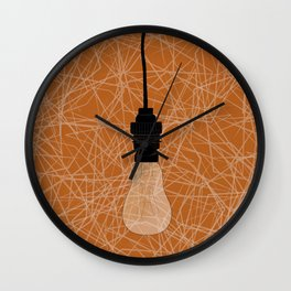 Love me lights out Wall Clock