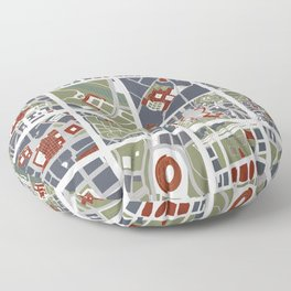 Urban fragments I of NewYork, Paris, London, Berlin, Rome and Seville Floor Pillow