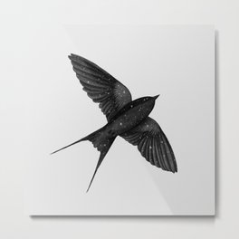 Night Swallow Metal Print