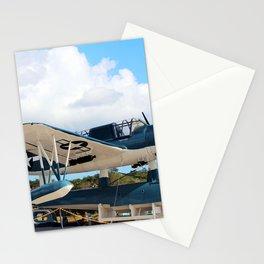 Seaplane On Battleship Stationery Cards