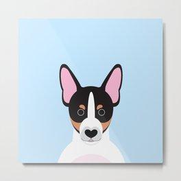 Miniature fox terrier foxie Metal Print