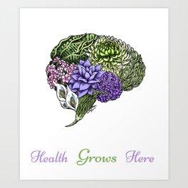 Plant Brain Art Print