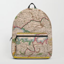 Vintage Map Print - 1766 map - Map of Tartary by Guillaume Delisle Backpack