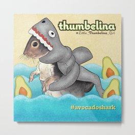 Little Thumbelina Girl: avocado shark Metal Print