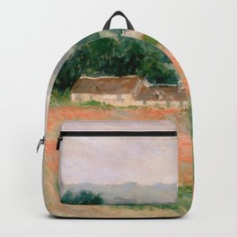 Haystack at Giverny by Claude Monet Backpack