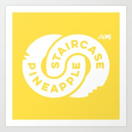 PineappleStaircase | Official Logocolor 2016 in Yellow/White Art Print