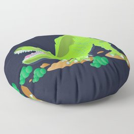 Dino - Bright Floor Pillow