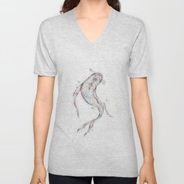 Colorful Koi Unisex V-Neck