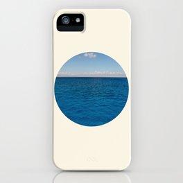 Water & Sky Horizon Round Photo iPhone Case
