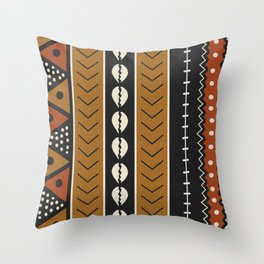 Let's play mudcloth Throw Pillow