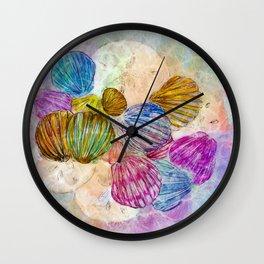 Ocean Sea Shells & Sand Dollars-Barbara Chichester Wall Clock