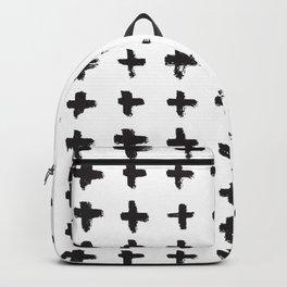 Brushstroke Swiss Cross Pattern Backpack