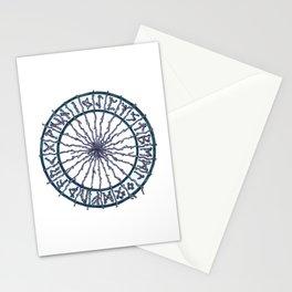 Elder Futhark Rune Wheel Stationery Cards