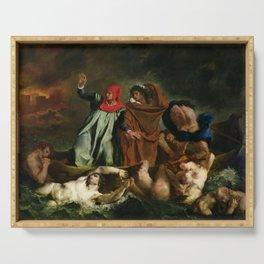 Eugne Delacroix - The Barque of Dante Serving Tray