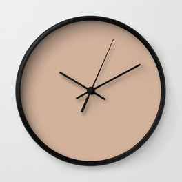 Simply Solid - Toasted Almond Wall Clock