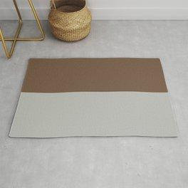 Benjamin Moore 2019 Color of Year Metropolitan AF-690 & Kona Chocolate Brown Bold Horizontal Stripes Rug