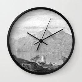 William Trost Richards - Lake Maggiore Wall Clock