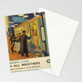 posters Green Line in All Weathers voyage poster Stationery Cards