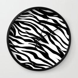 Minimalist Zebra Wall Clock