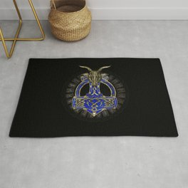 The hammer of Thor - Gold and Lapis Lazuli Rug