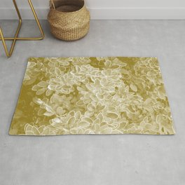 foliage jade tone botanical art washed out effect aesthetic photography Rug
