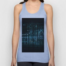 Technology Portal with Digital Circle Access System Unisex Tank Top