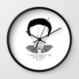 Literary Love: John Keats Wall Clock