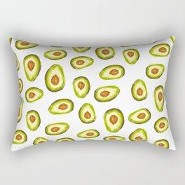 Modern hand painted avocado green brown watercolor pattern Rectangular Pillow