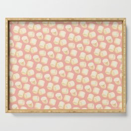 Marshmallow Pattern - Pink Serving Tray