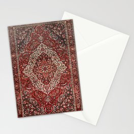 Persian Bakhtiari Old Century Authentic Colorful Deep Dark Red Tan Vintage Patterns Stationery Cards