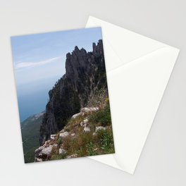 Sunny Aj-Petri Mountain top view , Crimea, summer Stationery Cards