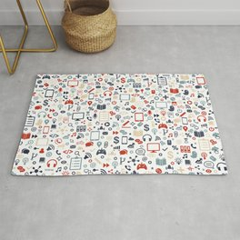 Icon pattern Rug