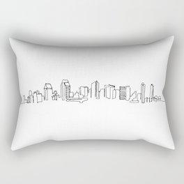 San Diego Skyline Drawing Rectangular Pillow