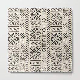 Line Mud Cloth // Bone Metal Print