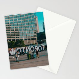 Nathan Phillips square late evening Rollin on Stationery Cards