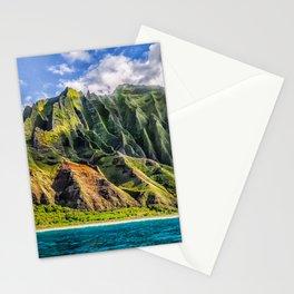 Na' Pali Spires, Kauai, Hawaii Stationery Cards