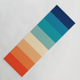 Retro Nostalgia 70s color stripes Yoga Mat