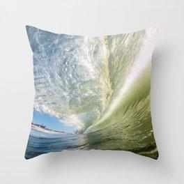 Glassy Green Throw Pillow