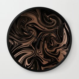 Black & Rose Gold Marble Wall Clock