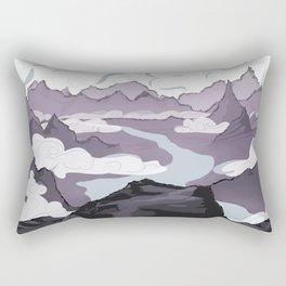 Across a Mountain Valley  Rectangular Pillow