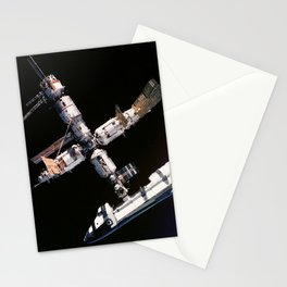 Space Shuttle Space Station Mir Dock Stationery Cards