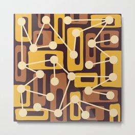 Mid Century Modern Atomic Nucleus Pattern 438 Metal Print