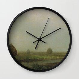 Jersey Marshes 1874 By Martin Johnson Heade | Reproduction Wall Clock