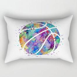 Basketball Watercolor Art Print Sports Poster Home Decor Kids Room Sports Painting Nursery Decor Rectangular Pillow